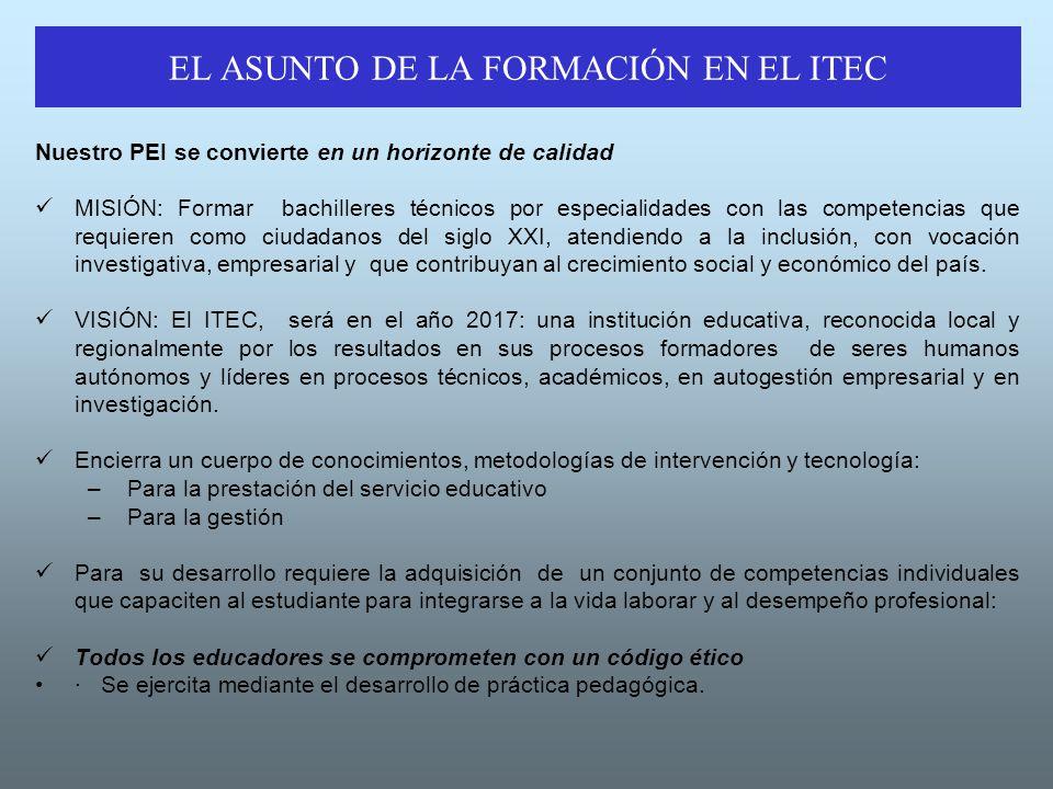 EL ASUNTO DE LA FORMACIÓN EN EL ITEC