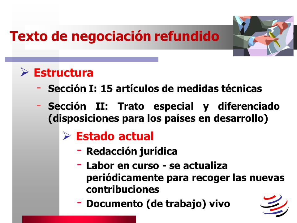 Texto de negociación refundido