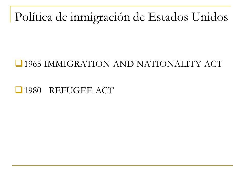 Política de inmigración de Estados Unidos