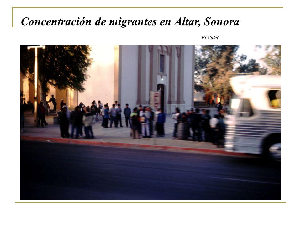 Concentración de migrantes en Altar, Sonora El Colef