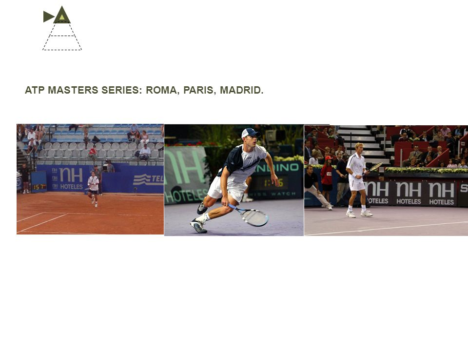 ATP MASTERS SERIES: ROMA, PARIS, MADRID.