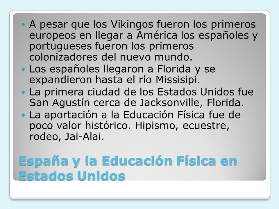 España y la Educación Física en Estados Unidos