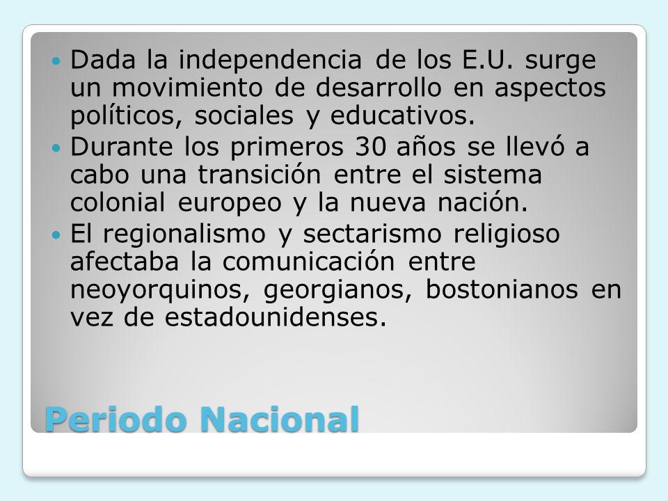 Dada la independencia de los E. U