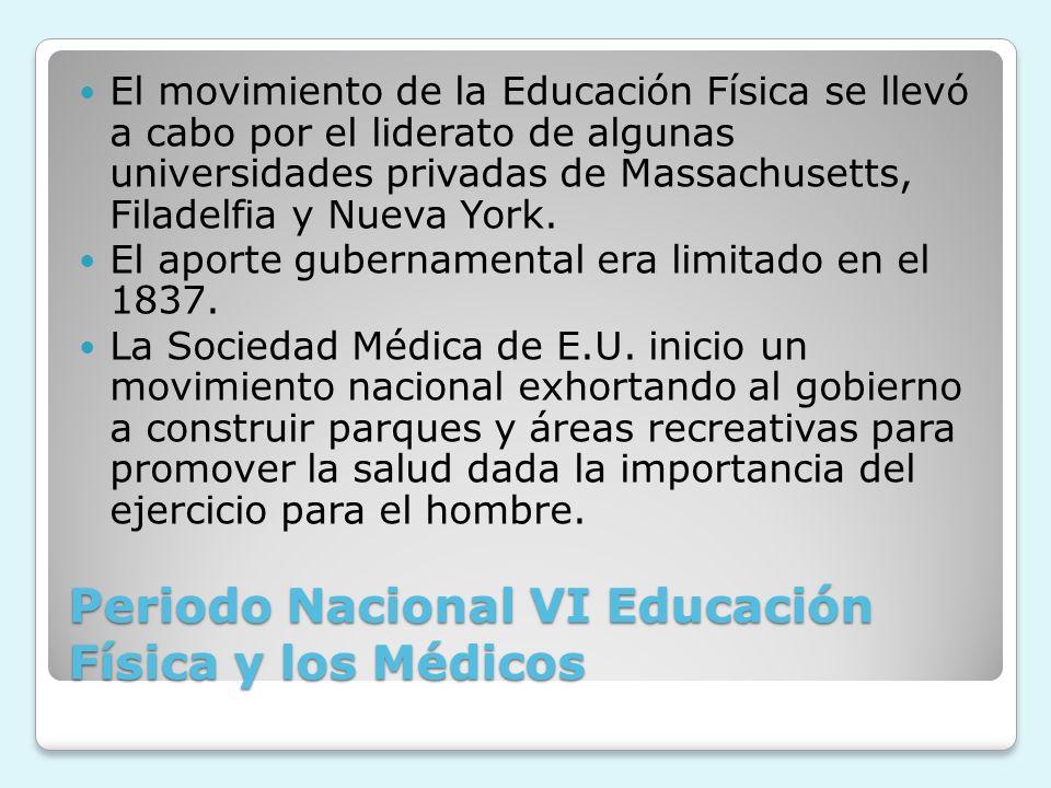 Periodo Nacional VI Educación Física y los Médicos