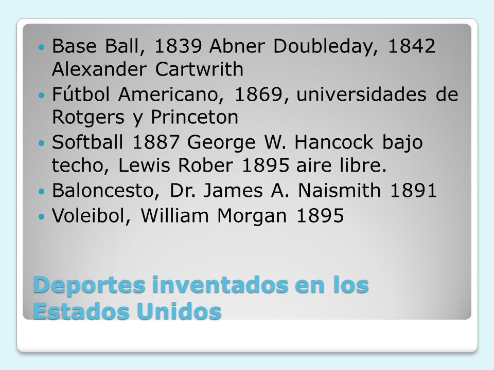Deportes inventados en los Estados Unidos
