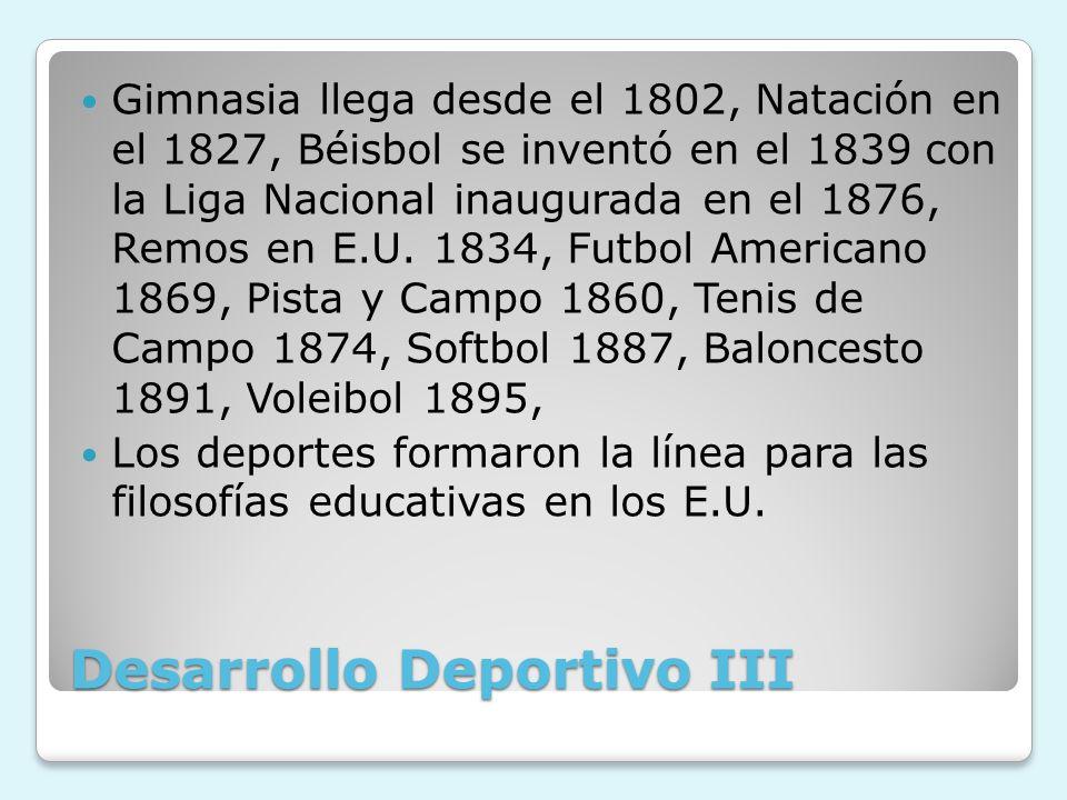 Desarrollo Deportivo III