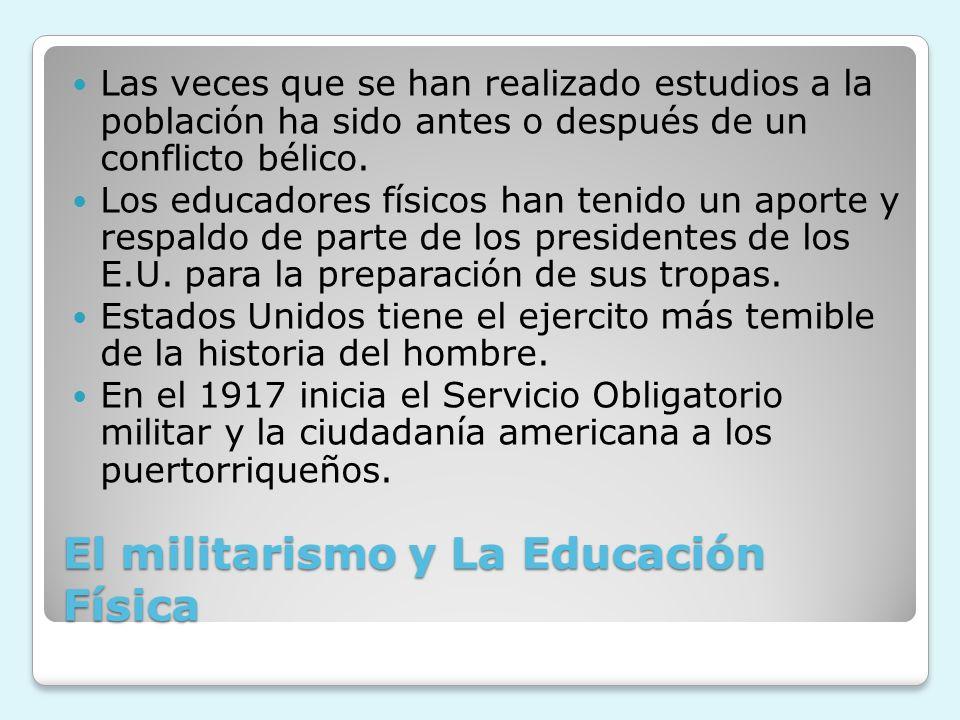 El militarismo y La Educación Física