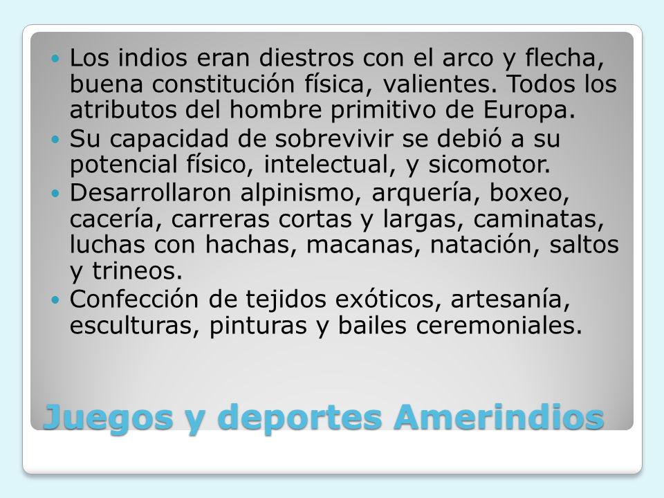 Juegos y deportes Amerindios
