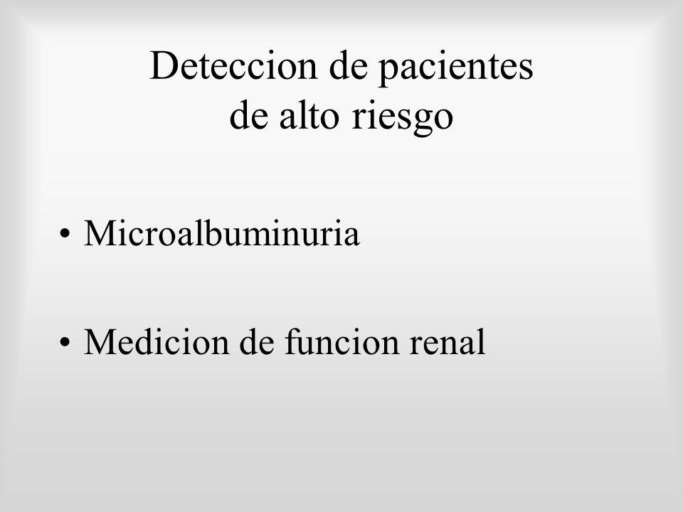 Deteccion de pacientes de alto riesgo