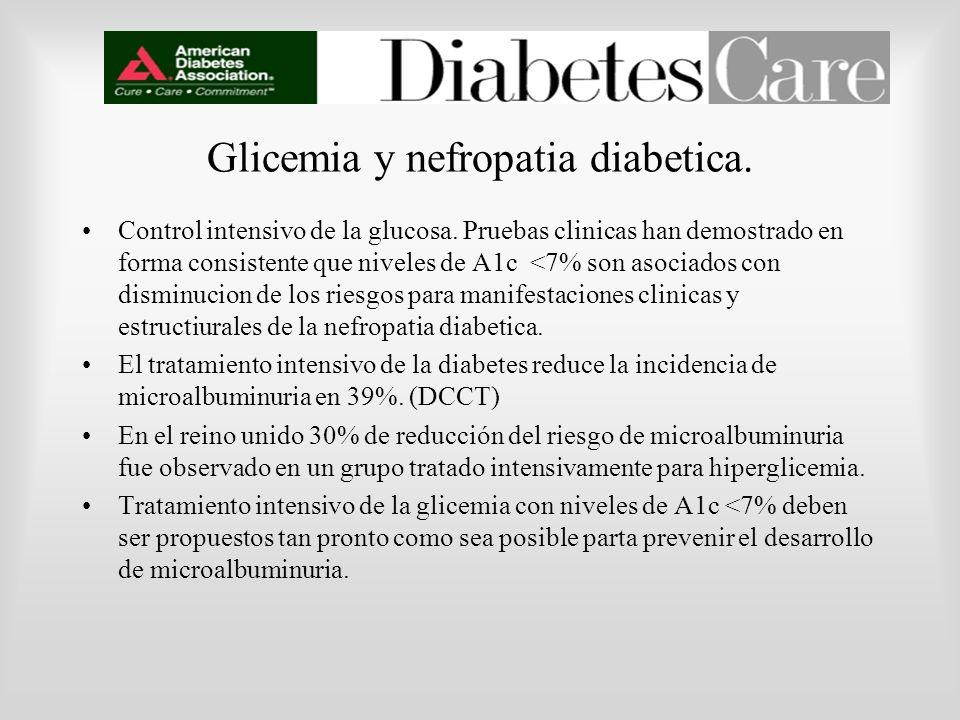 Glicemia y nefropatia diabetica.