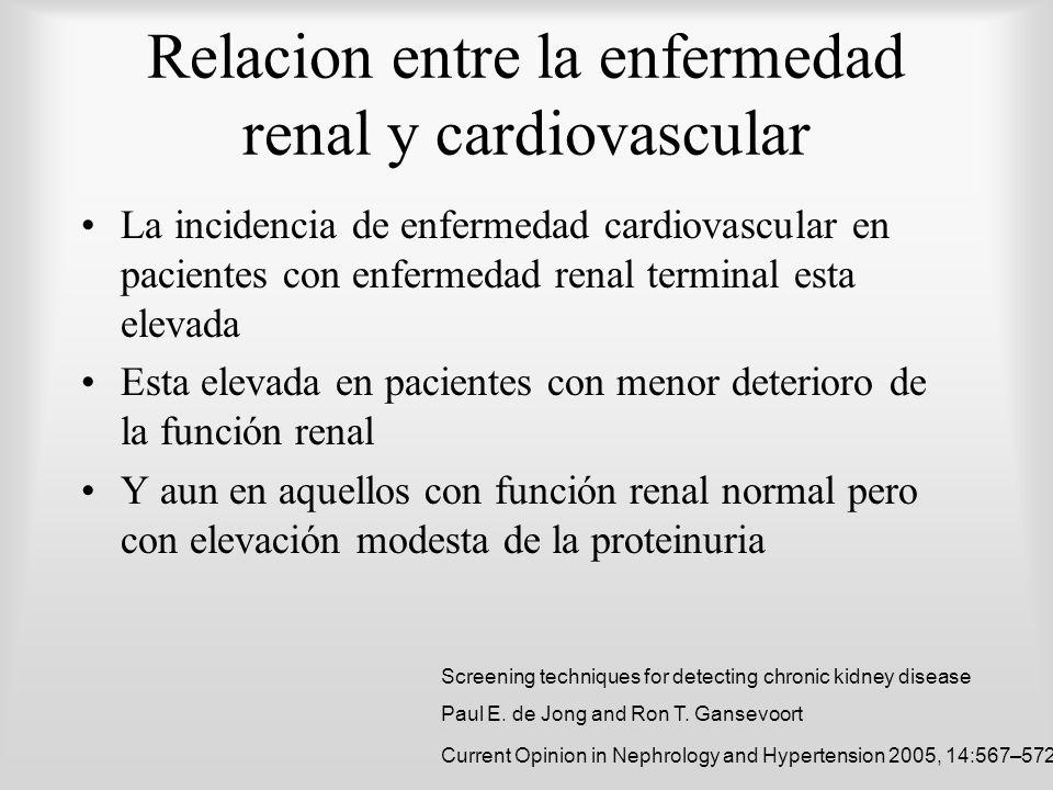 Relacion entre la enfermedad renal y cardiovascular