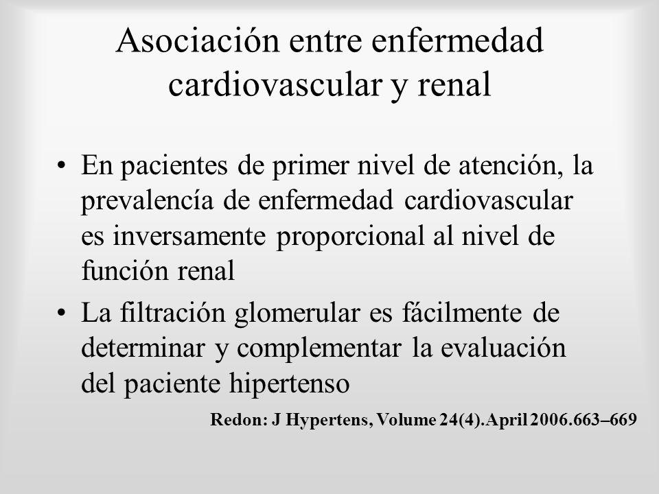 Asociación entre enfermedad cardiovascular y renal