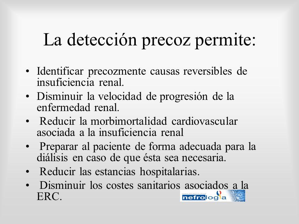 La detección precoz permite: