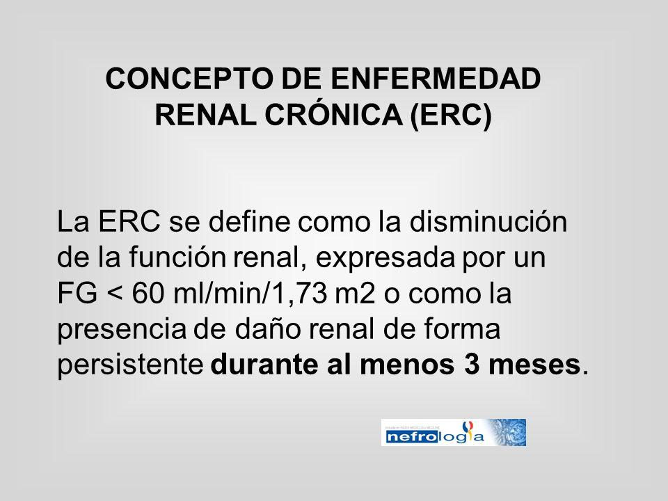 CONCEPTO DE ENFERMEDAD RENAL CRÓNICA (ERC)