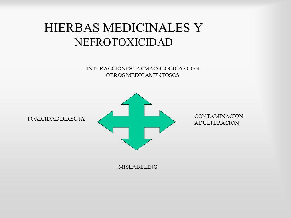 HIERBAS MEDICINALES Y NEFROTOXICIDAD