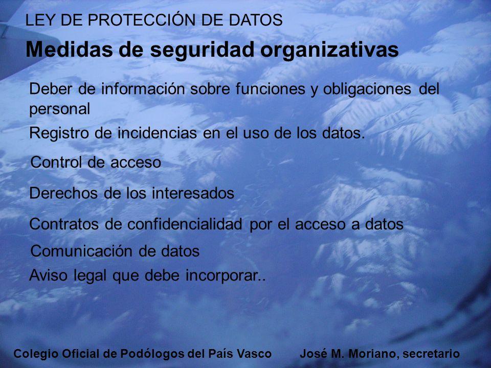 Medidas de seguridad organizativas