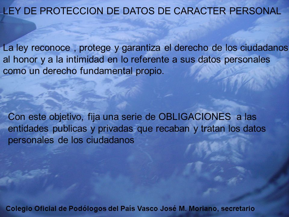 LEY DE PROTECCION DE DATOS DE CARACTER PERSONAL