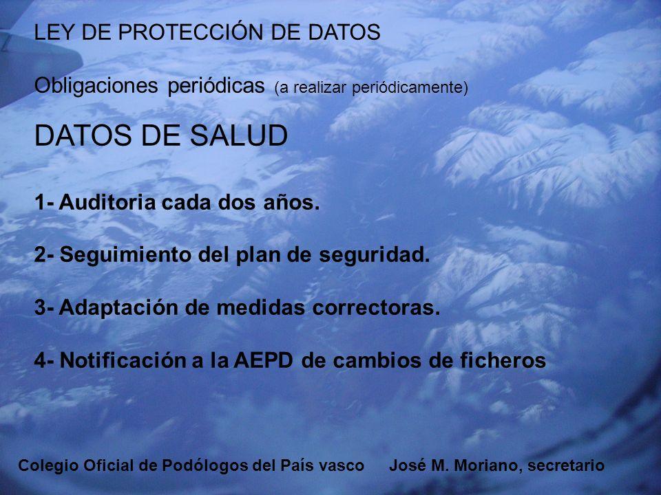 DATOS DE SALUD LEY DE PROTECCIÓN DE DATOS