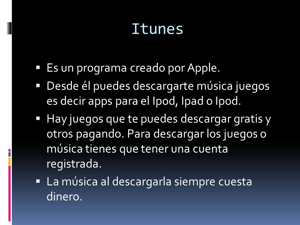 Itunes Es un programa creado por Apple.