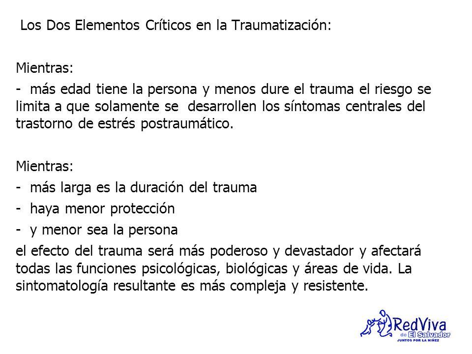 Los Dos Elementos Críticos en la Traumatización: