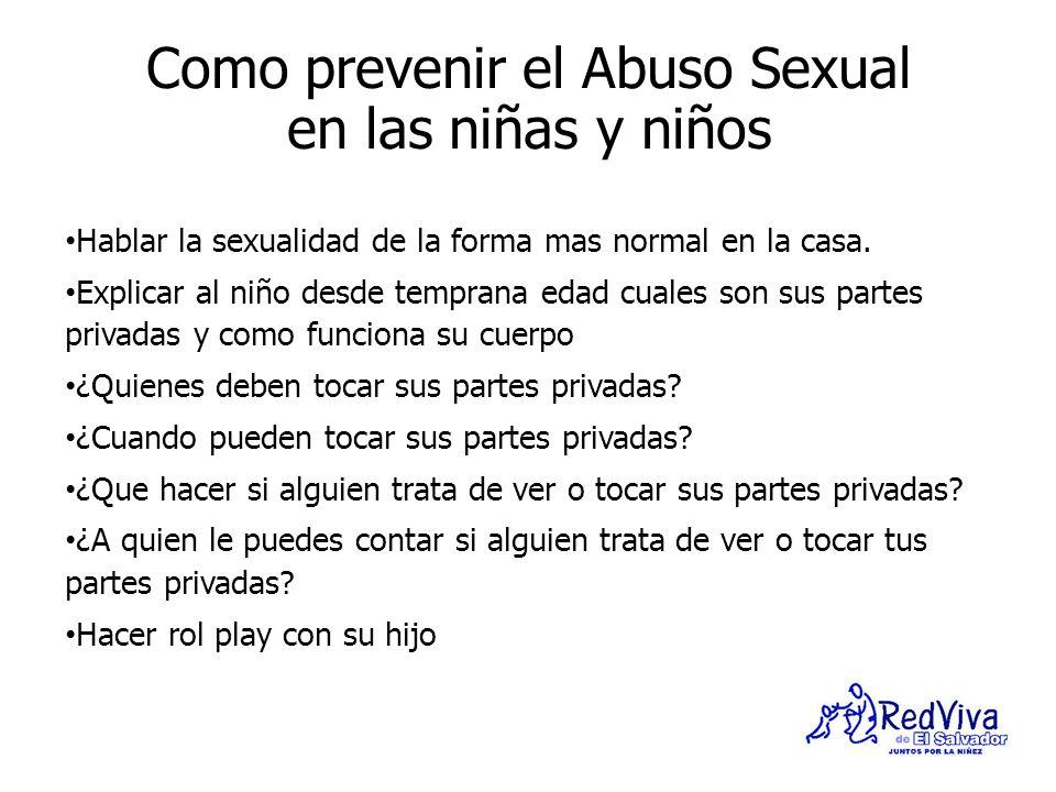 Como prevenir el Abuso Sexual en las niñas y niños