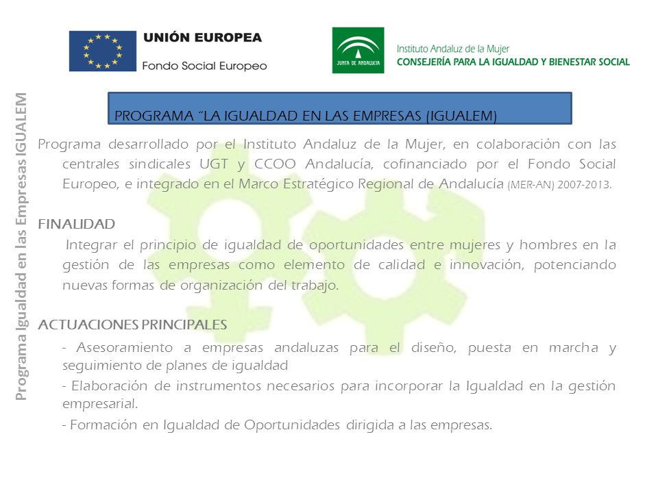 Programa Igualdad en las Empresas IGUALEM