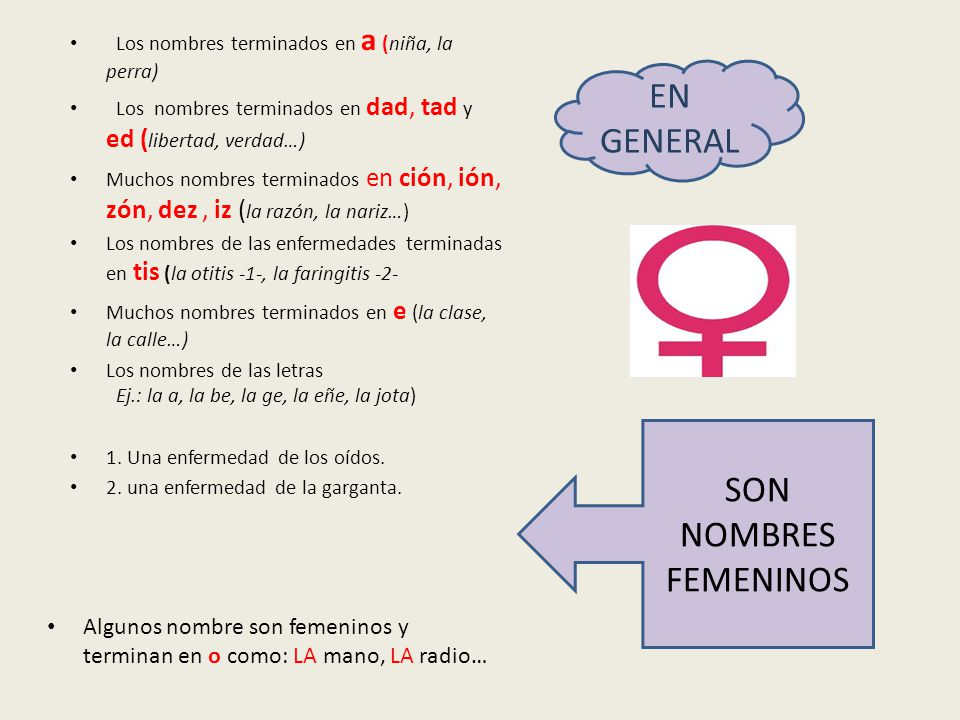 EN GENERAL SON NOMBRES FEMENINOS