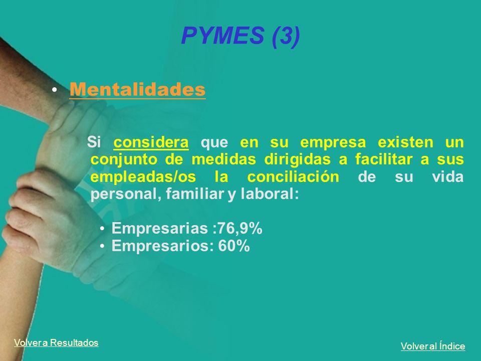 PYMES (3) Mentalidades Empresarias :76,9% Empresarios: 60%