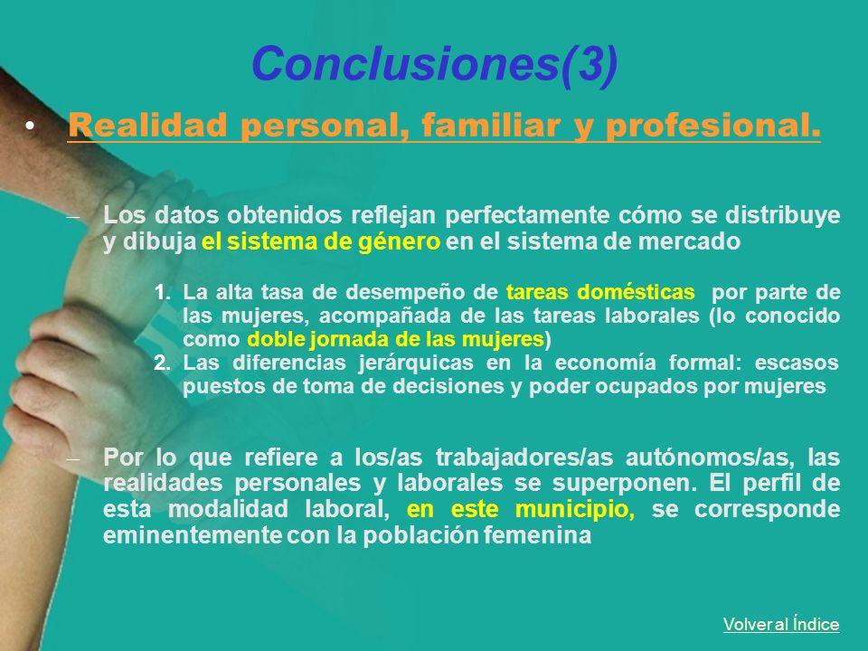 Conclusiones(3) Realidad personal, familiar y profesional.