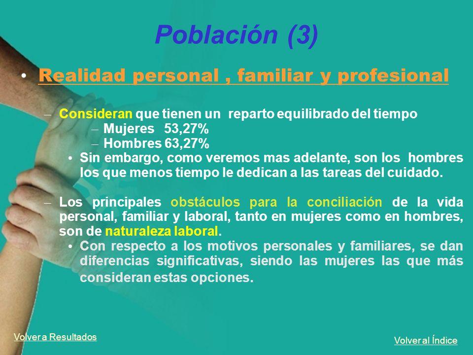 Población (3) Realidad personal , familiar y profesional