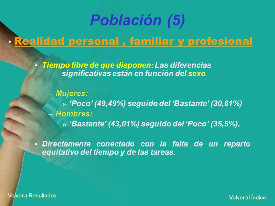 Población (5) Realidad personal , familiar y profesional