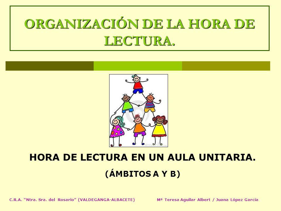 ORGANIZACIÓN DE LA HORA DE LECTURA.