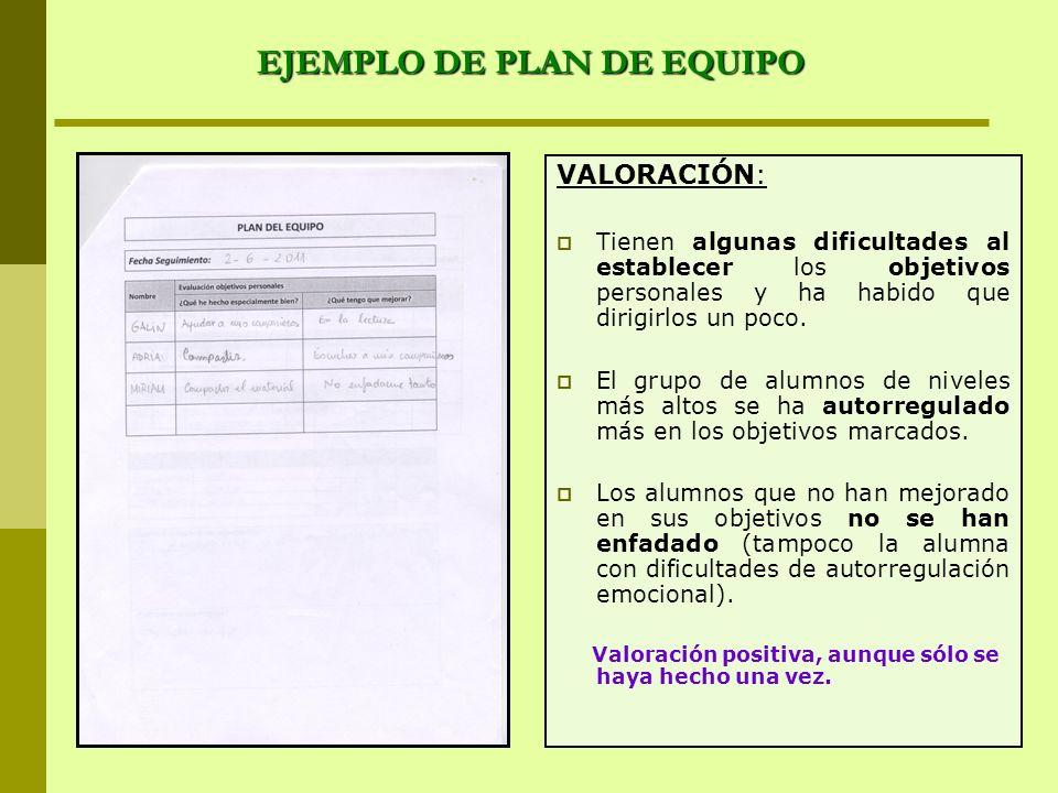 EJEMPLO DE PLAN DE EQUIPO