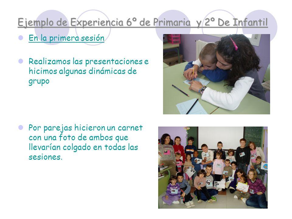 Ejemplo de Experiencia 6º de Primaria y 2º De Infantil