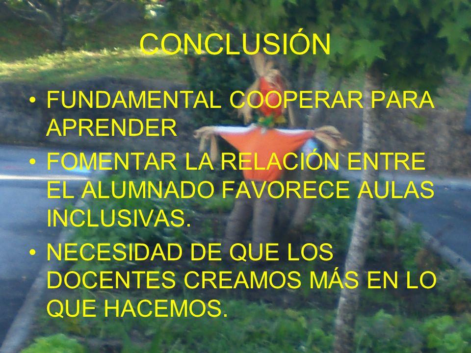 CONCLUSIÓN FUNDAMENTAL COOPERAR PARA APRENDER