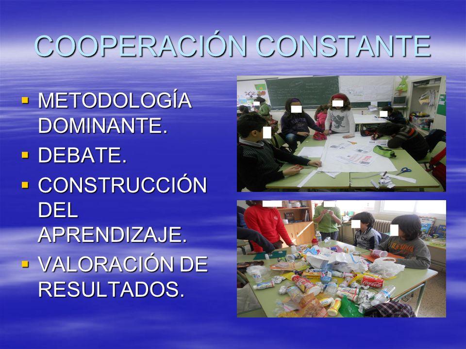 COOPERACIÓN CONSTANTE