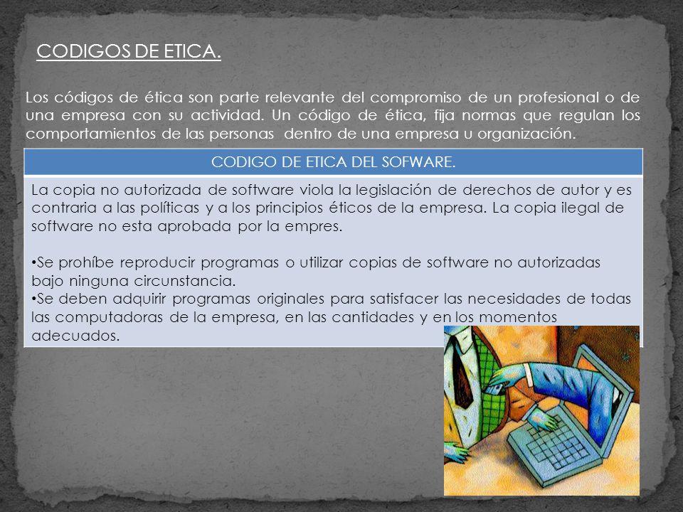 CODIGO DE ETICA DEL SOFWARE.