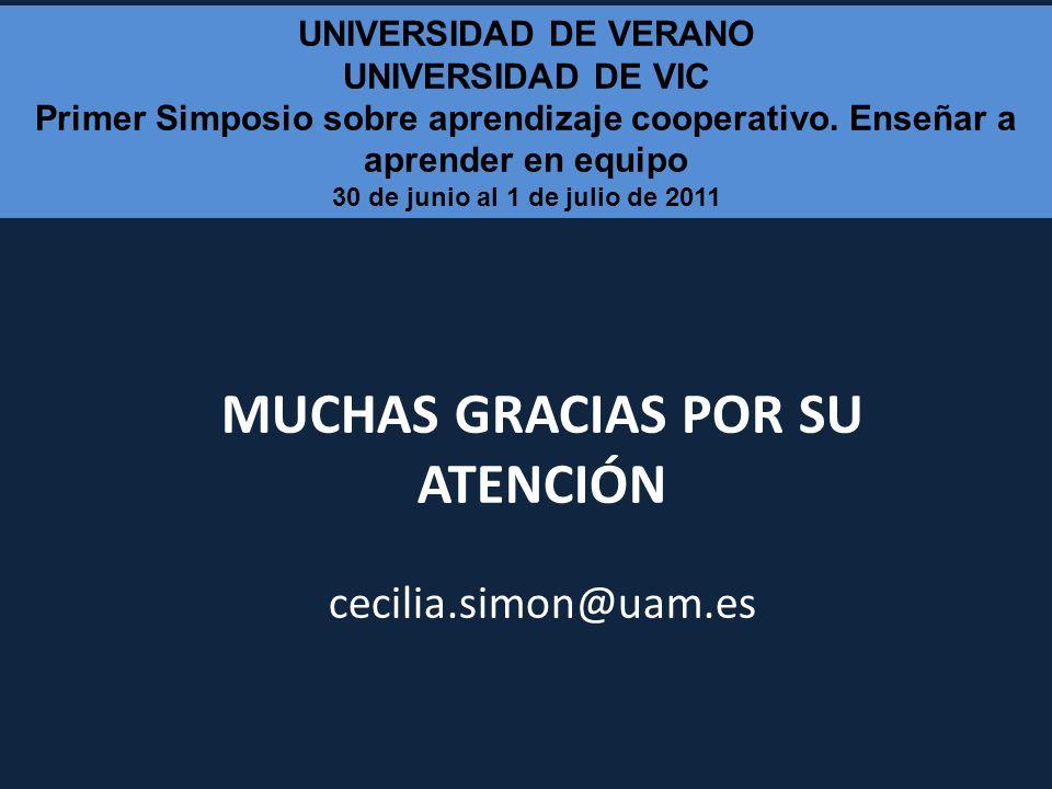 MUCHAS GRACIAS POR SU ATENCIÓN cecilia.simon@uam.es