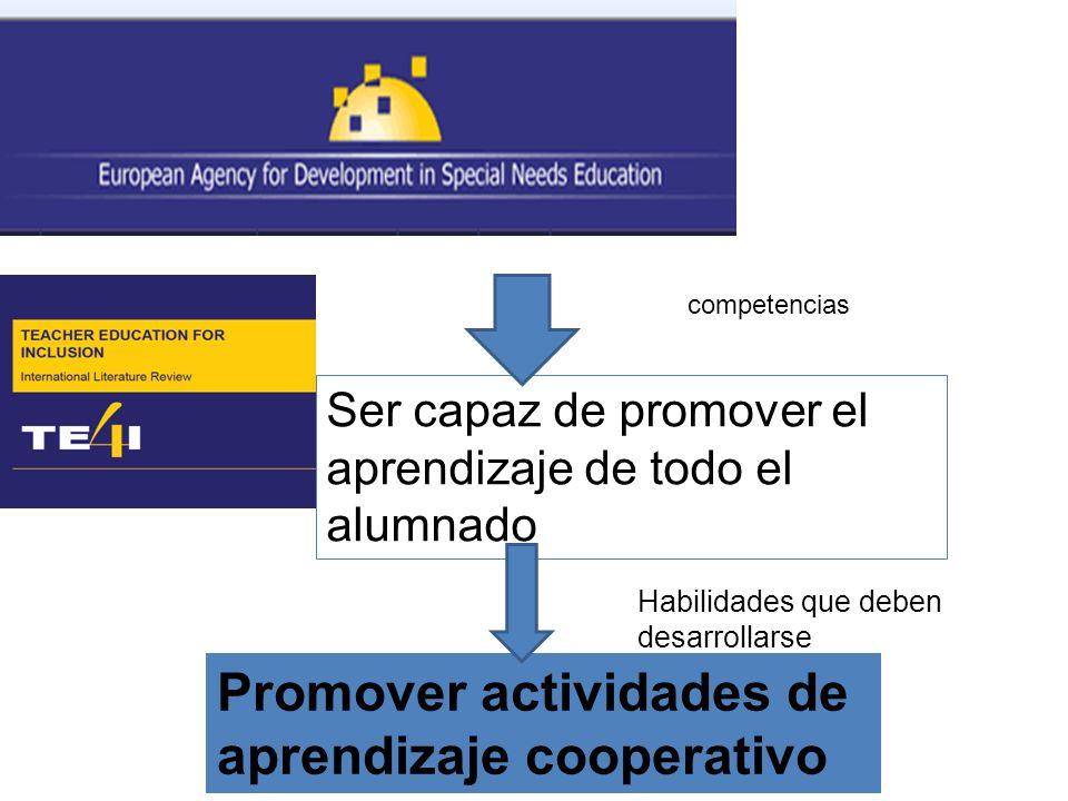 Promover actividades de aprendizaje cooperativo