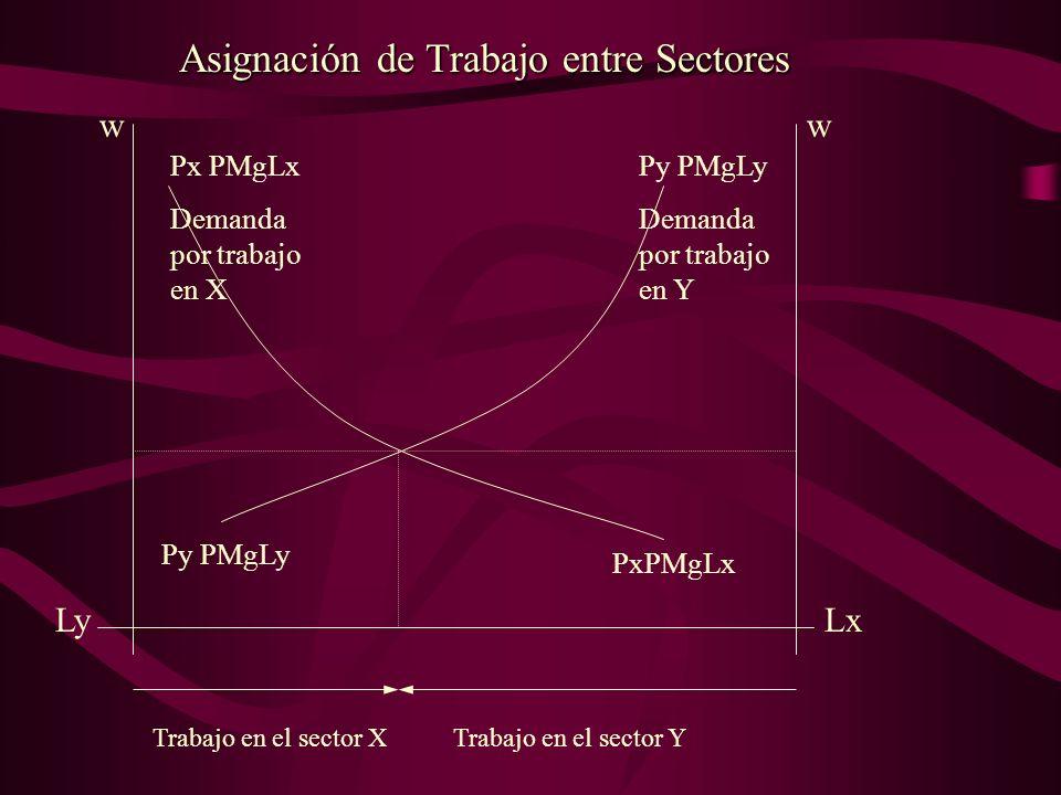 Asignación de Trabajo entre Sectores