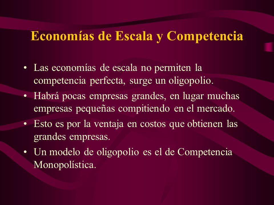 Economías de Escala y Competencia