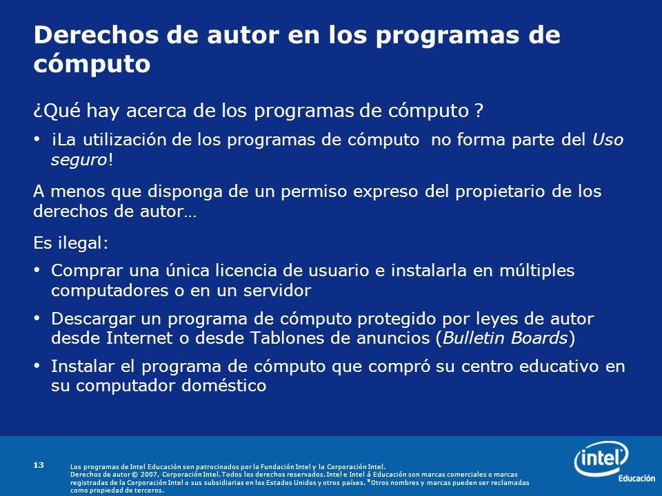 Derechos de autor en los programas de cómputo