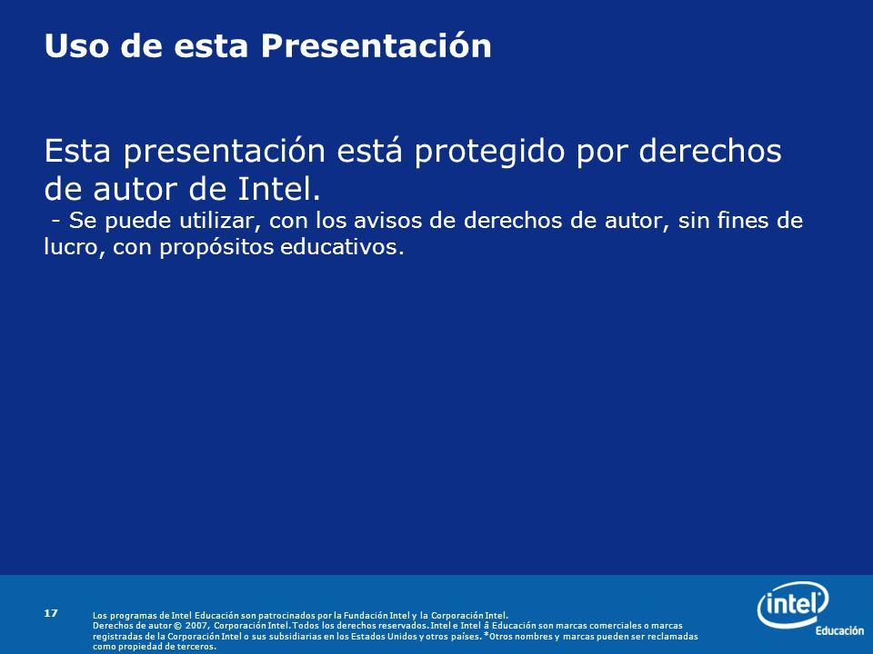 Uso de esta Presentación