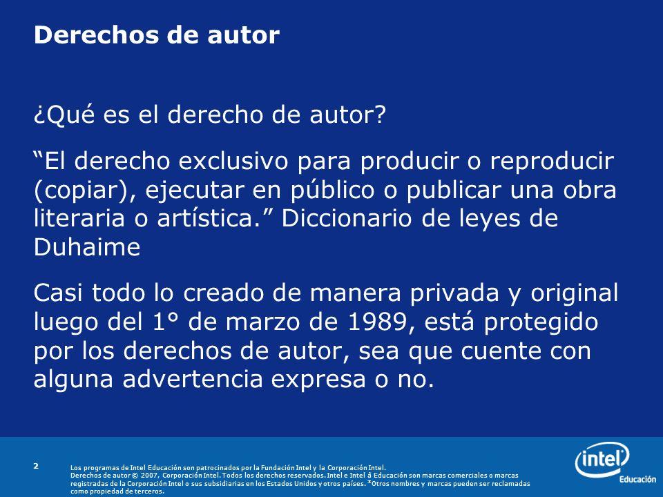 Derechos de autor ¿Qué es el derecho de autor