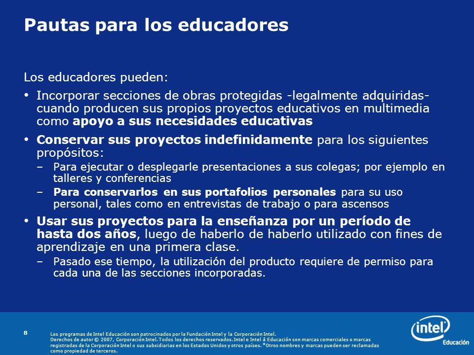 Pautas para los educadores
