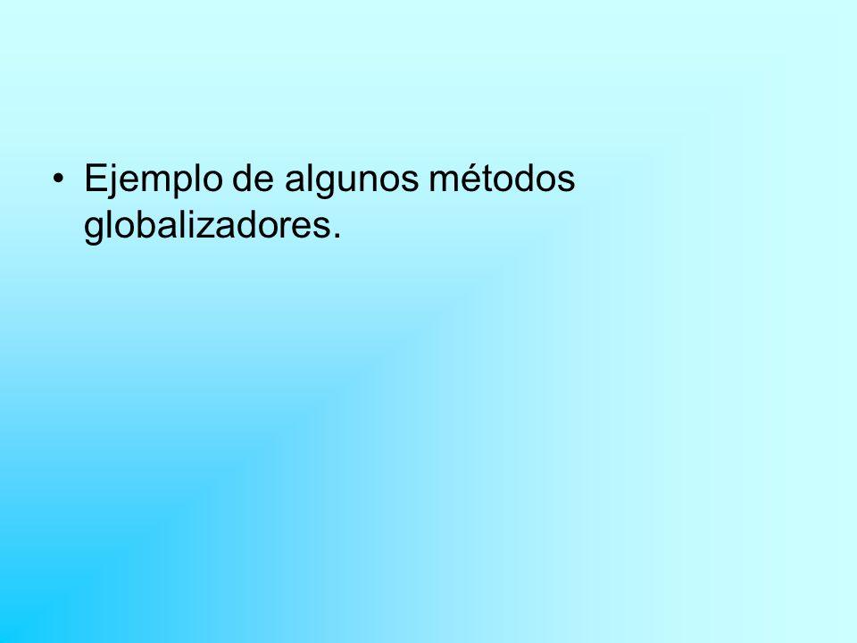 Ejemplo de algunos métodos globalizadores.