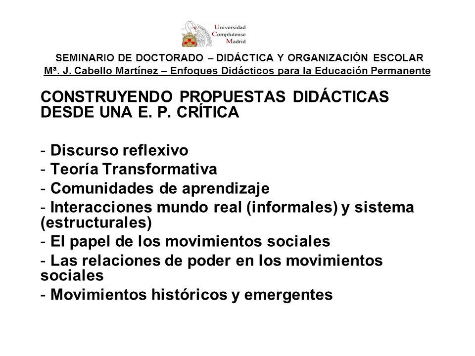 CONSTRUYENDO PROPUESTAS DIDÁCTICAS DESDE UNA E. P. CRÍTICA