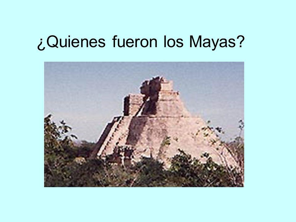 ¿Quienes fueron los Mayas