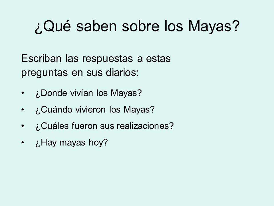 ¿Qué saben sobre los Mayas