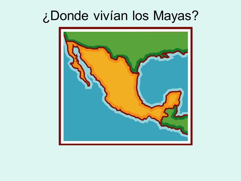 ¿Donde vivían los Mayas